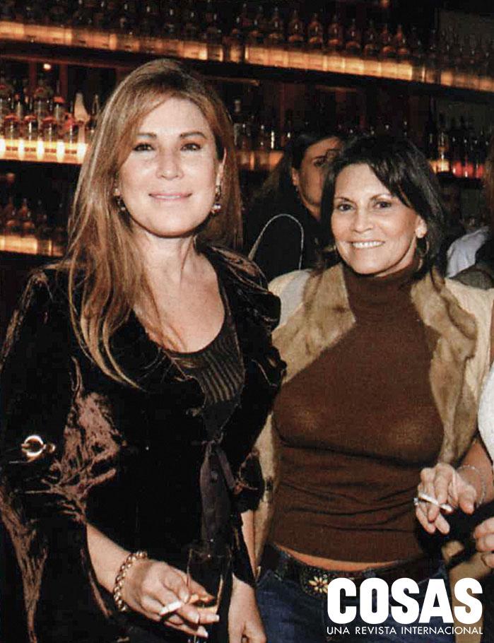Milena Aguirre y Patricia Celi, en la fiesta de la Revista COSAS, 2006.