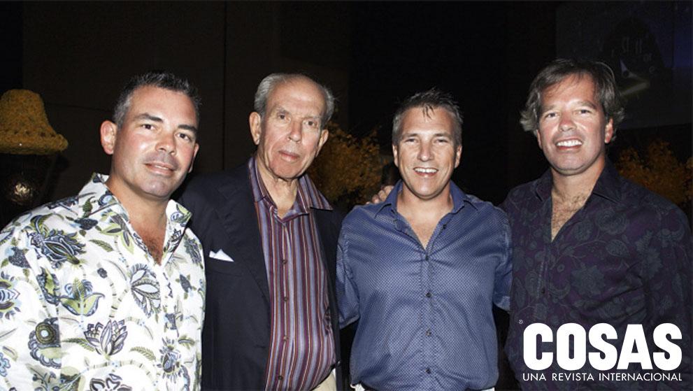 Pedro Brescia Moreyra, Mario Brescia Cafferata, Mario Brescia Moreyra y Fortunato Brescia Moreyra, en Paracas, 2010.
