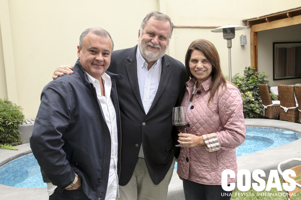 Antonio Castro, Jorge Coderch y Josseline Jenssen