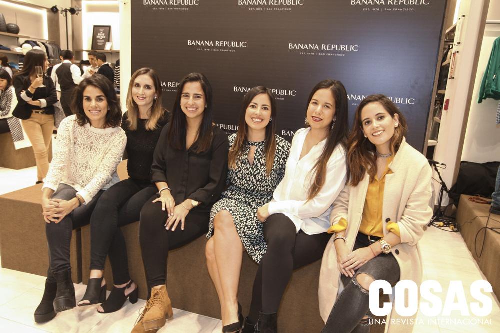 Francesca Peroni, Flavia Guerinoni, Romina Coz, Ximena Santa María, Carla Nora y Vania Delgado.