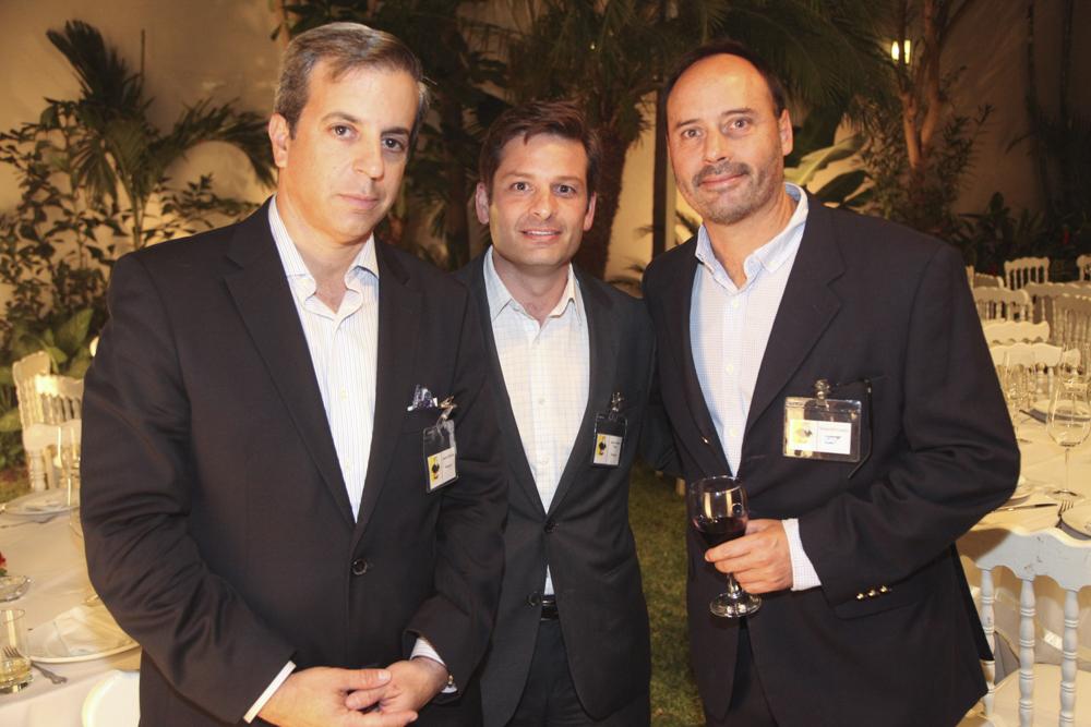 Andrés Baboun, Juan Alberto Tizza y Eduardo Camino