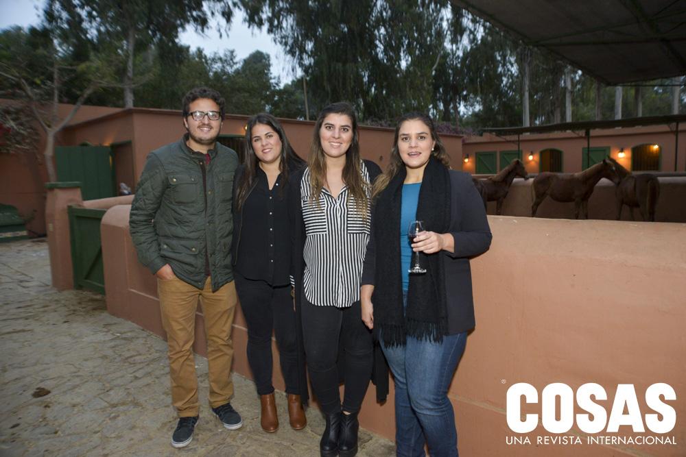 Pablo Trelles, Giuliana Risso, Cristina de la Piedra y Maria Fe de la Piedra.