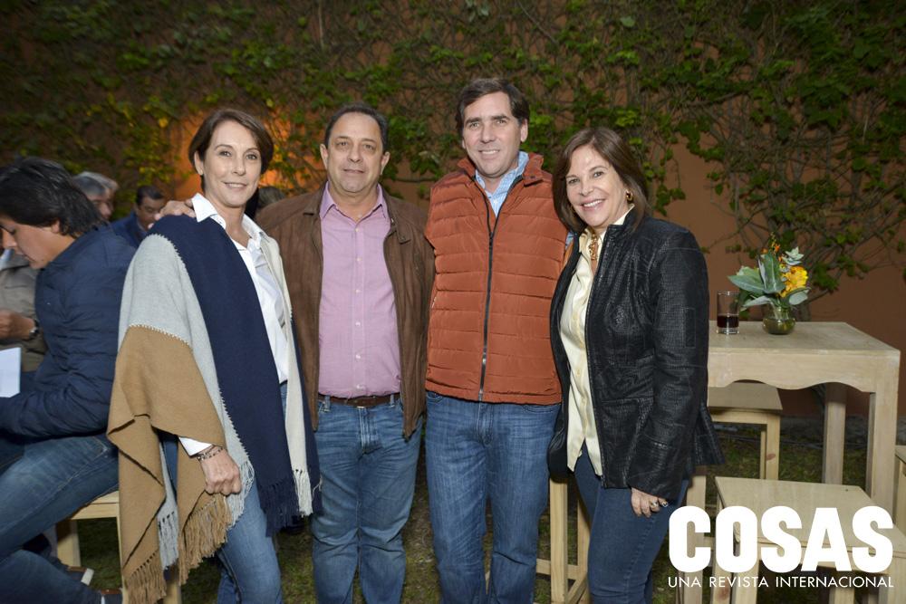 María Luisa Risso, Andrés Pardo, Antonio Risso y Giuliana Risso.