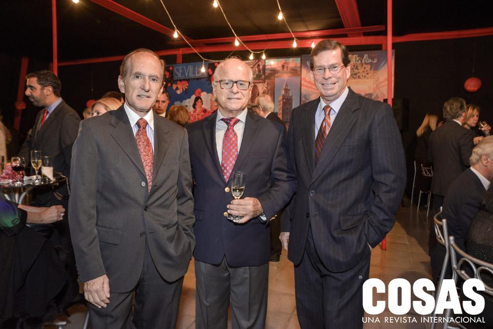 Thiago Aspíllaga, José Antonio Aspíllaga y Guillermo Gamón