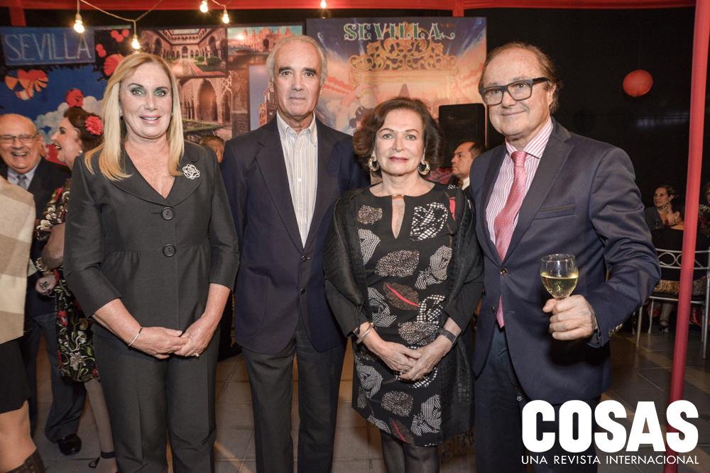 Cecilia Eléspuru, Rafaél de Loredo, Lucy Perea y Hernando López de Romaña