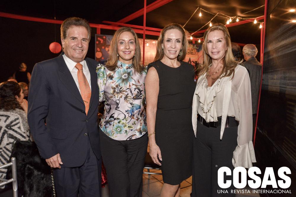 Alejandro Tudela, Rocío de Tudela, Patricia Céspedes y Giovanna Cánepa