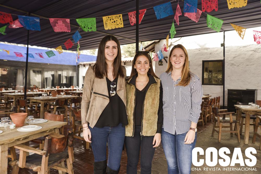 Raffaella Calda, Daniela Díaz y María Paz Picasso