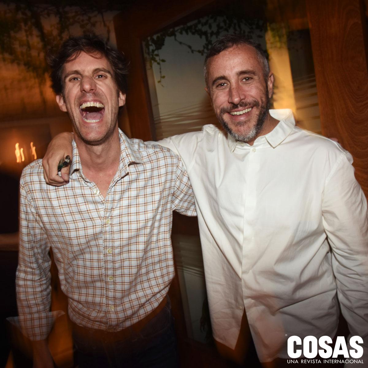 Manuel Pestana y Augusto Baertl, en Tragaluz.