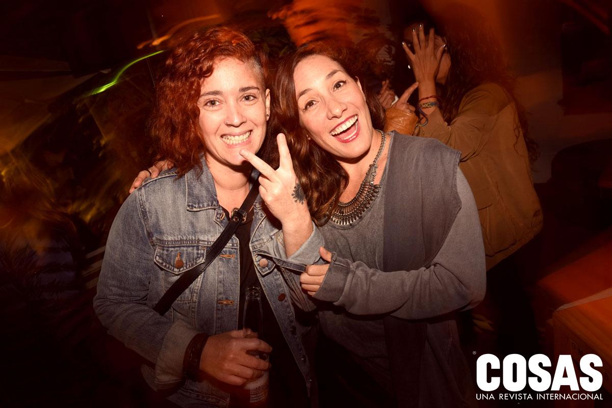 Mariana León y Ceci Guiulfo, en Victoria Bar.