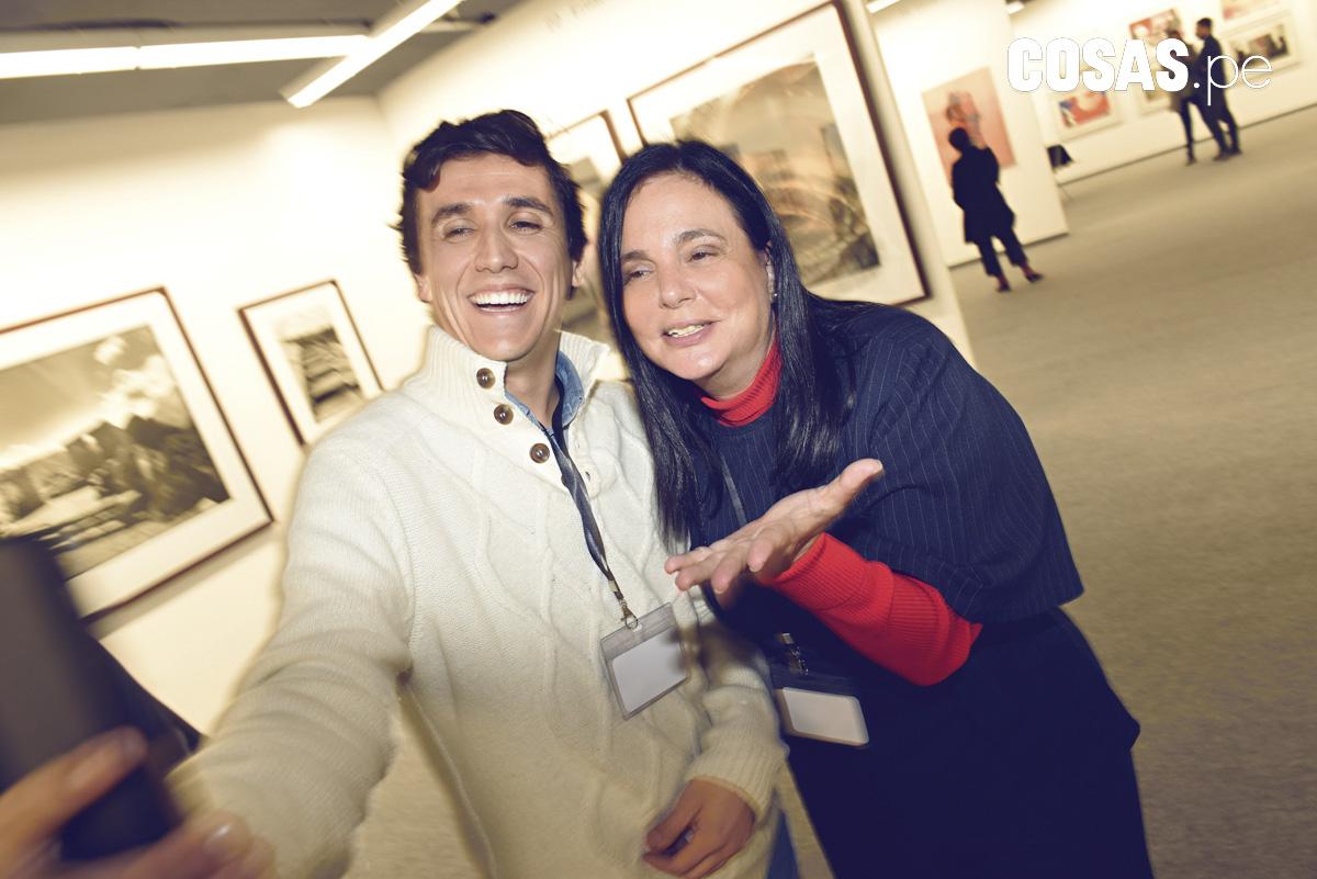 Renzo Pittaluga y Jacqeline Shor, en Larcomar.