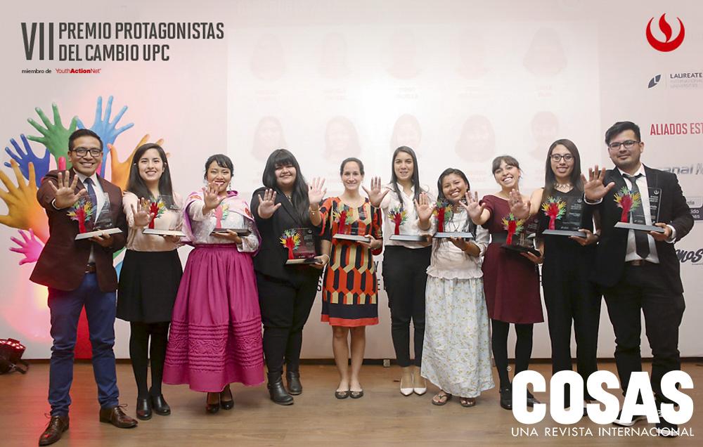 Los 10 ganadores de la séptima edición del Premio Protagonistas del Cambio UPC.
