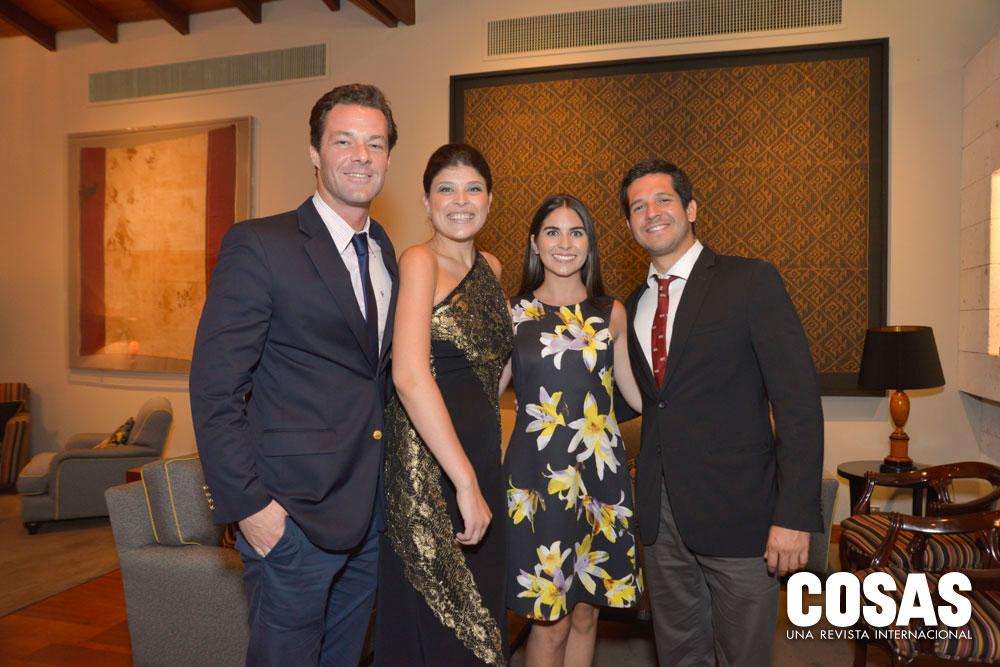 Luis Augusto Ducassi, Ana Lucía Strub, Stephanie Jones y Miguel Seminario