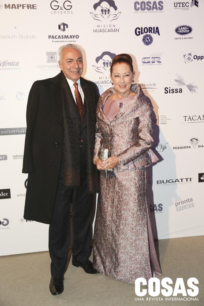 Eduardo de las Casas y Marisa Guiulfo
