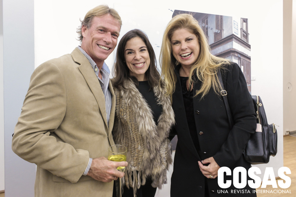 Alberto de Trazegnies, Cristina Quimper de Trazegnies y Jackie Vargas Fort