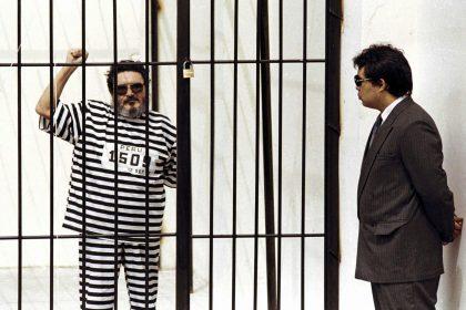 Abimael Guzmán encarcelado. Foto: AFP
