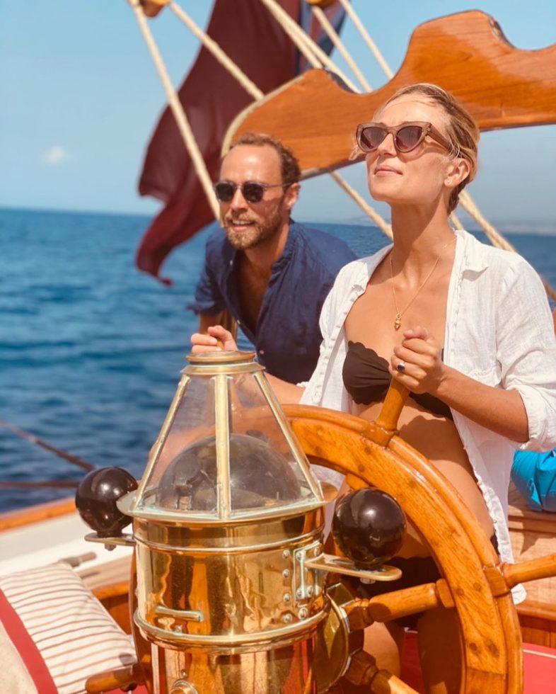 James Middleton y su nueva esposa, Alizée Thevenet.